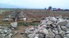 Beginning construction of dining hall