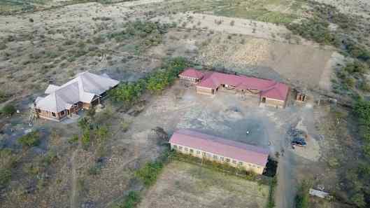 Drone photo of school